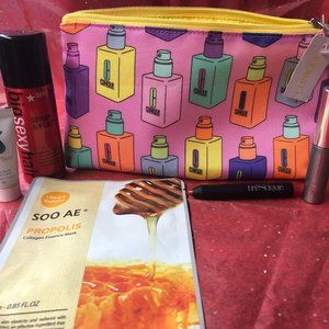 Clinique Bottle Bag w/ mixed beauty products